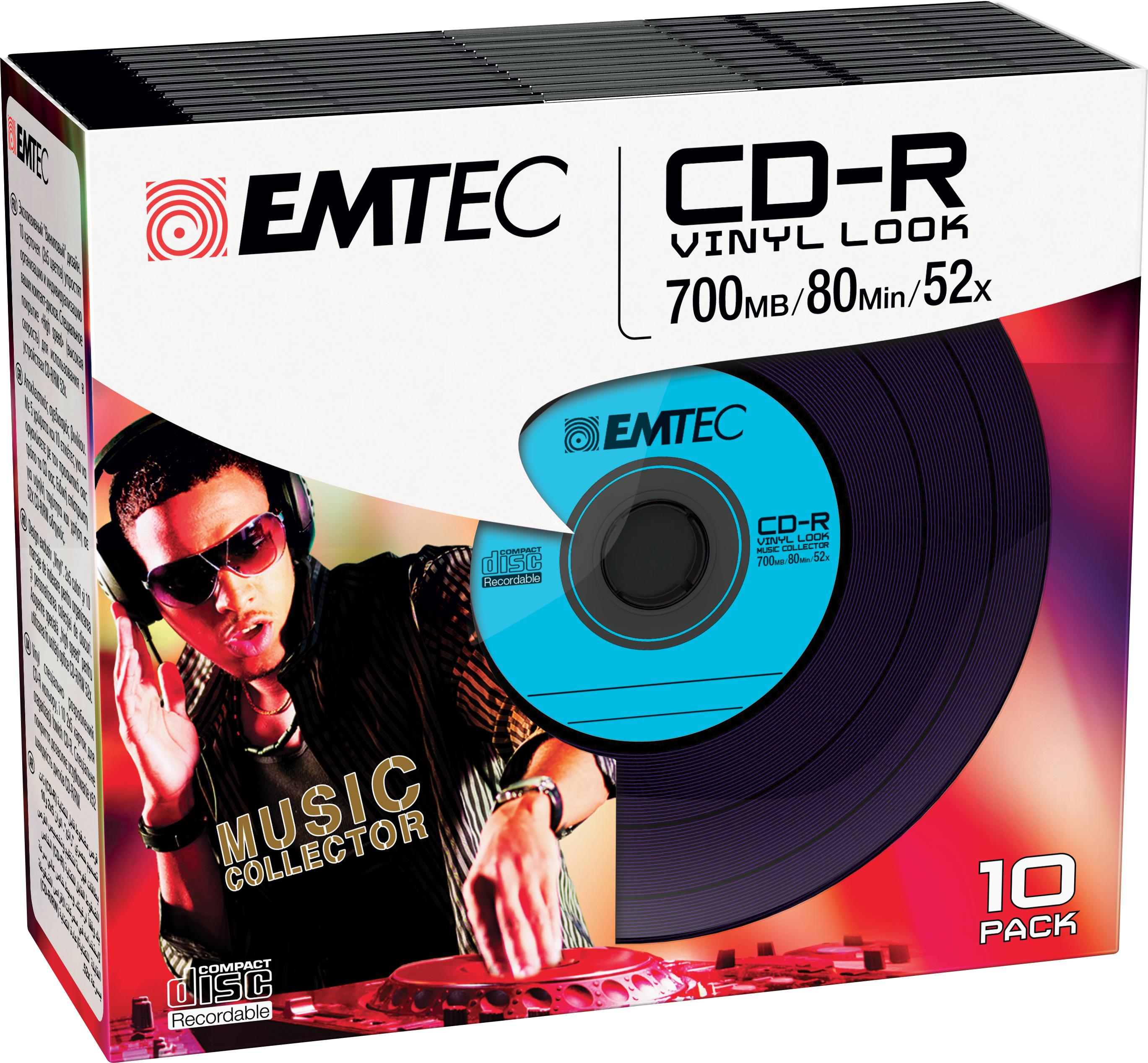 EMTEC CD-R - 700MB - 10pcs - 52x