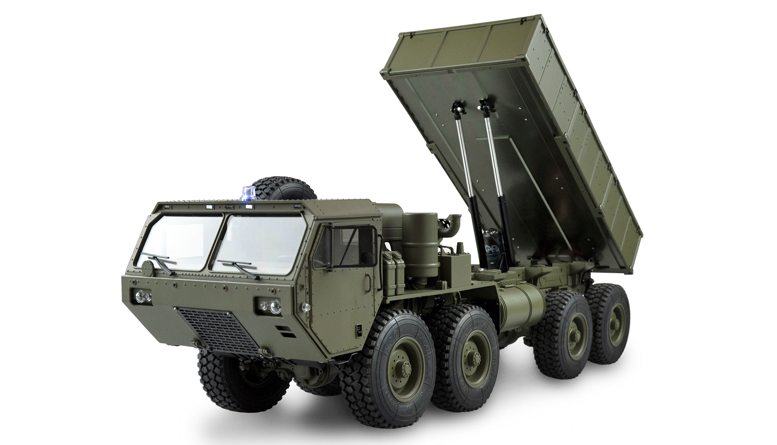 Vorschau: Amewi U.S. Militär Truck 8x8 - Radio-Controlled (RC) truck - Elektromotor - 1:12 - Betriebsbereit (RTR) - Grün - Junge/Mädchen