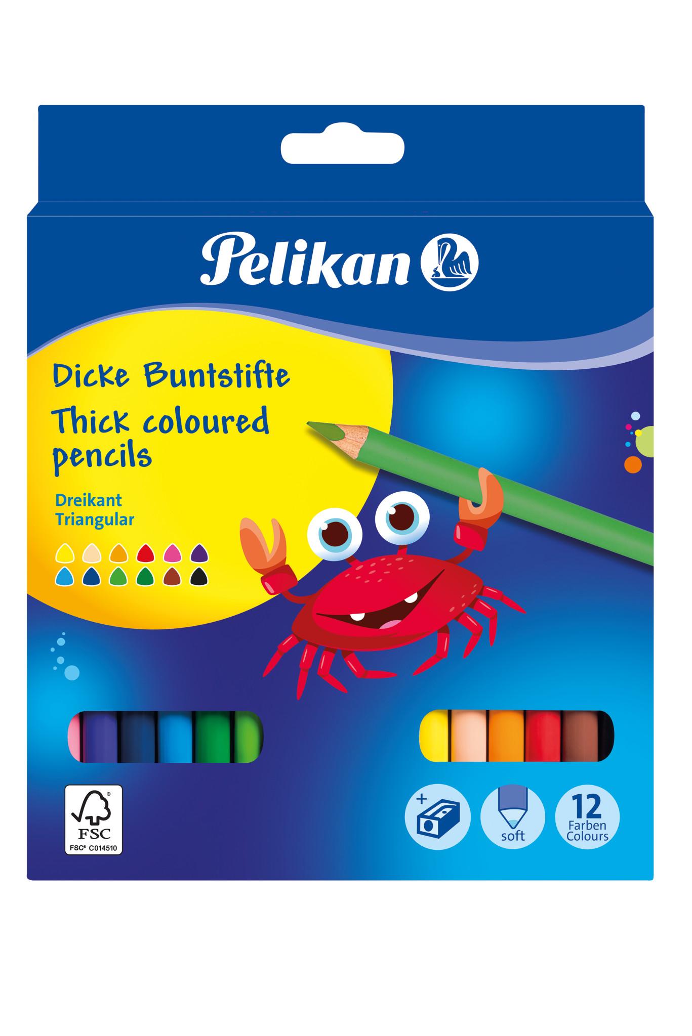 Pelikan 700160 - Dicke Buntstifte - 12 Stück