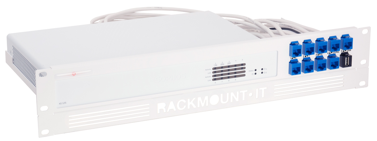 Rackmount.IT RM-SR-T6 - Montageschelle - Weiß - 2U - 0,5 m - Sophos XG 125 Rev. 3 - XG 135 Rev. 3 - 482 mm