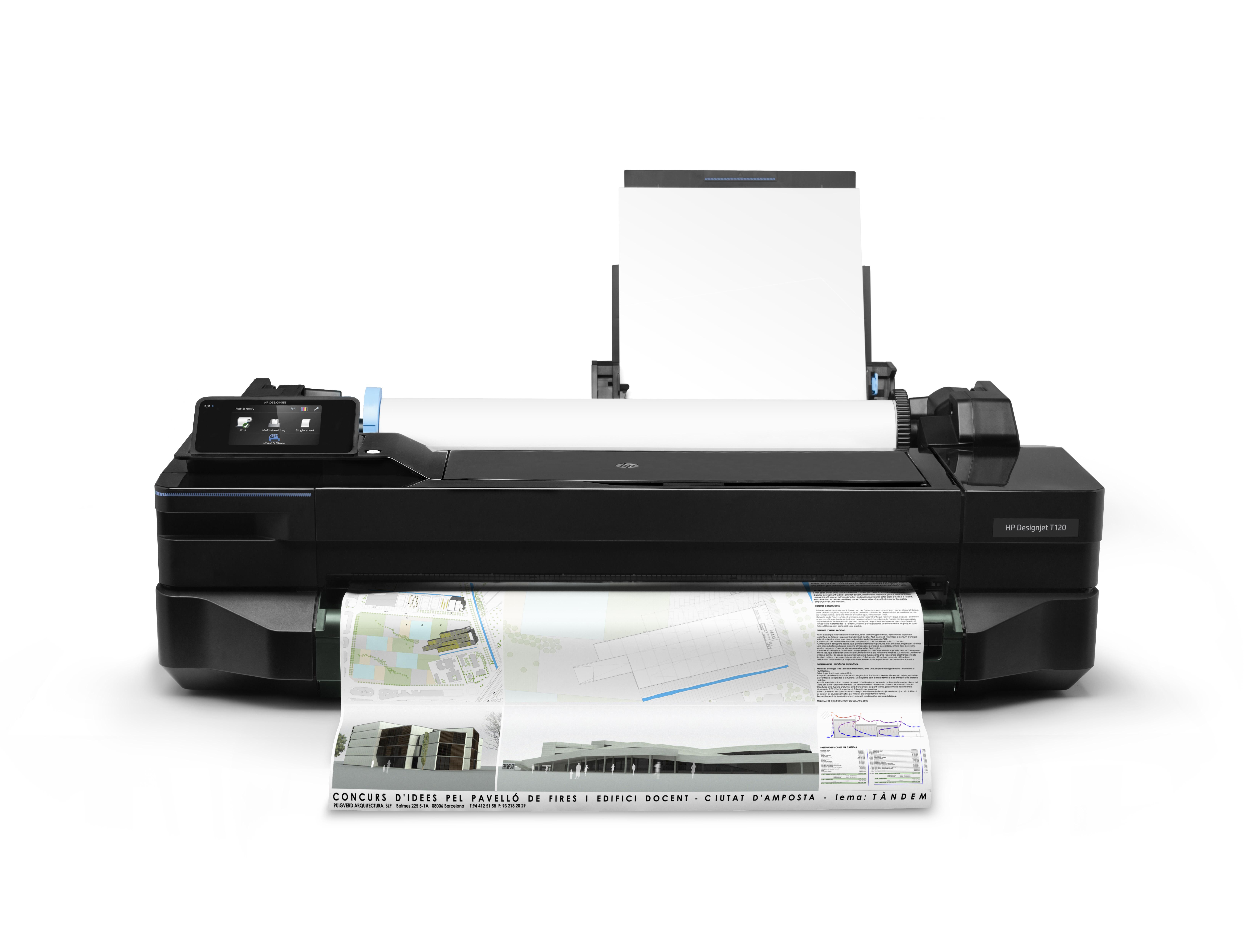 HP DesignJet T120 ePrinter - 610 mm Großformatdrucker - Farbe - Tintenstrahl - A1, ANSI D, Rolle