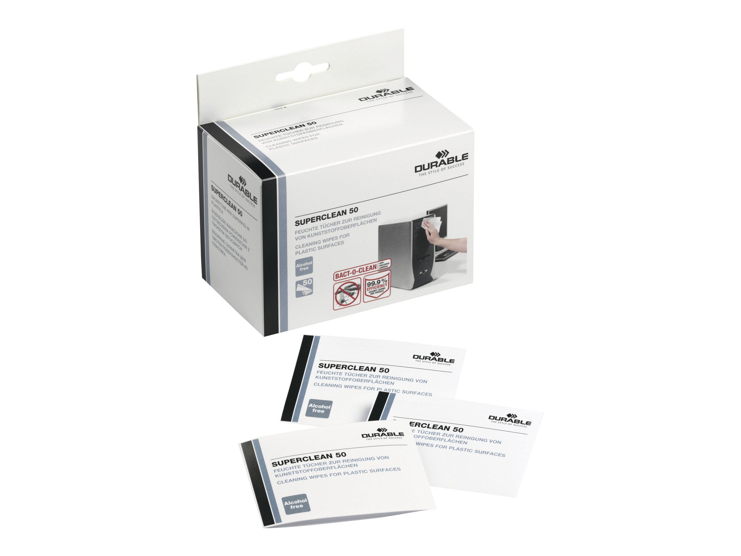 Durable Superclean 50 - Reinigungstücher (Wipes)