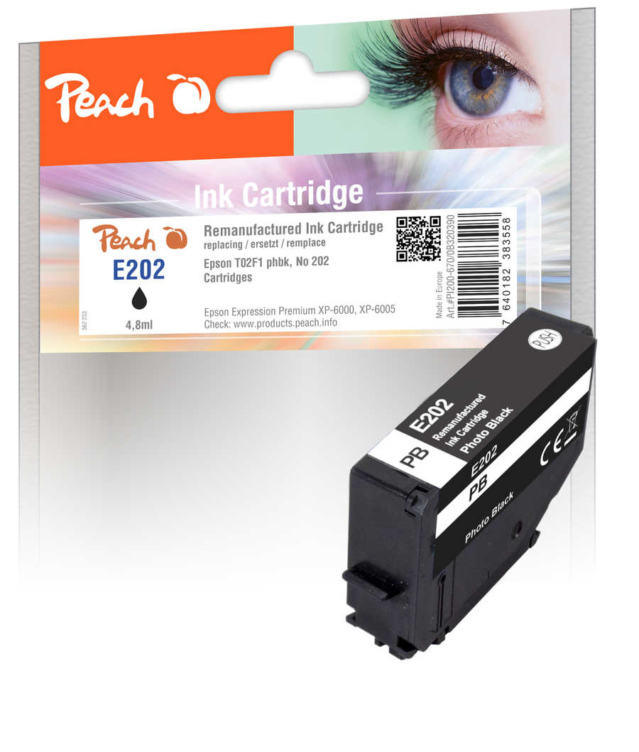 Peach Patrone Epson No. 202 phbk PEA T02F1 REM FW