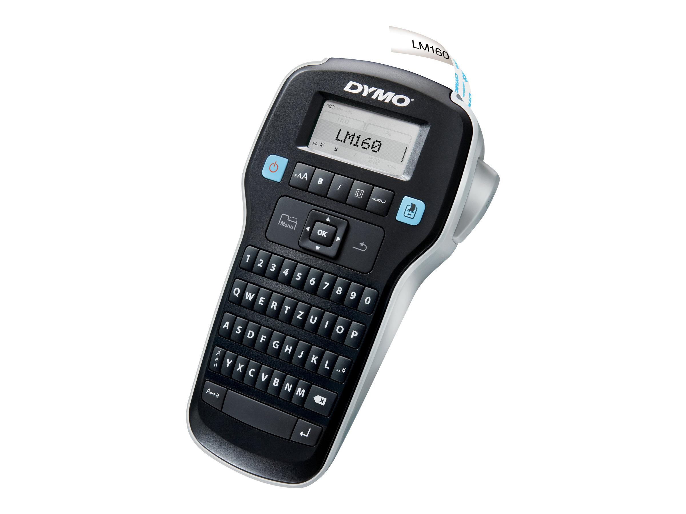 Dymo LabelMANAGER 160 - Beschriftungsgerät - s/w - Rolle (1,3 cm)