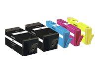 Peach Multi Pack Plus - 5er-Pack - Schwarz, Gelb, Cyan, Magenta