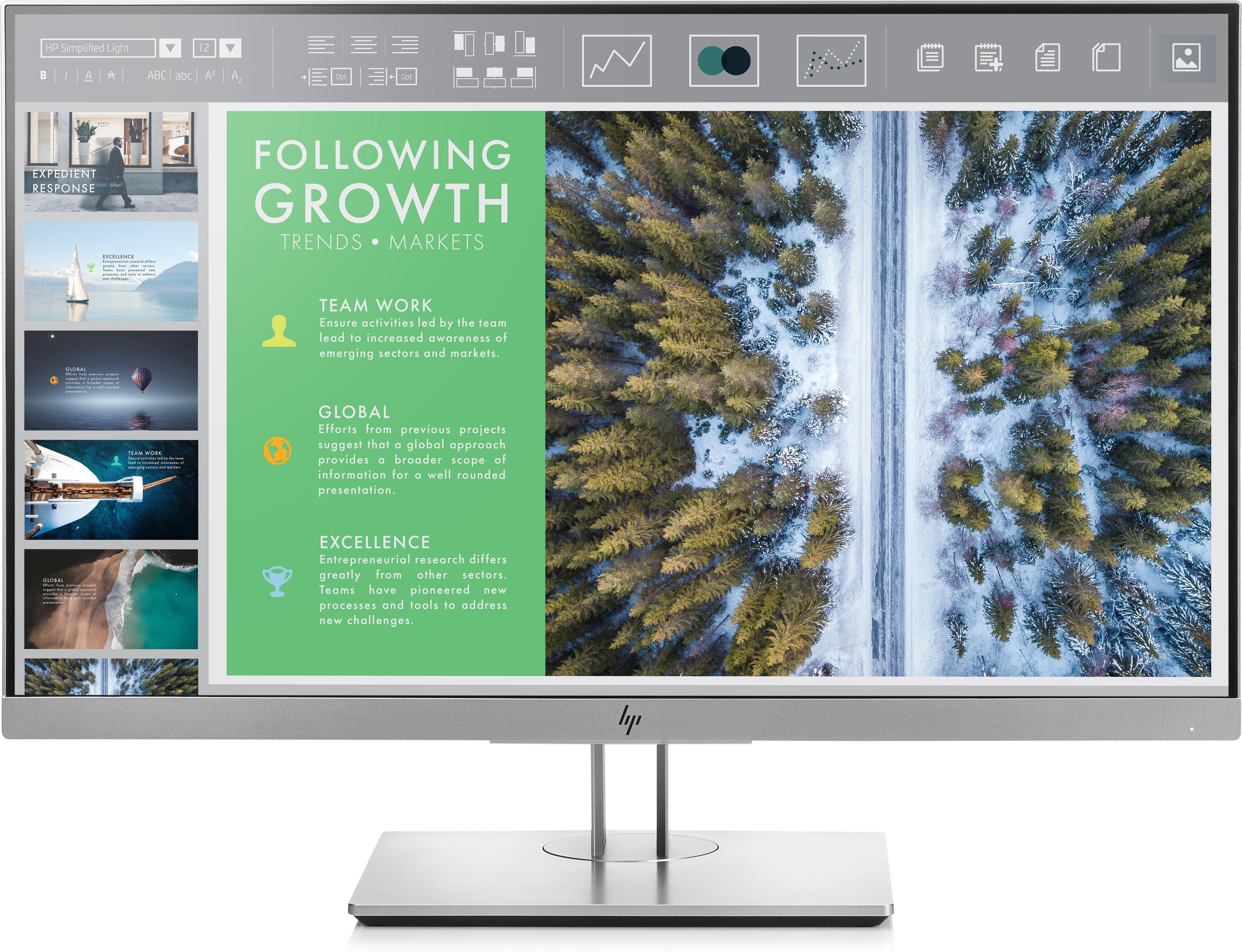 HP EliteDisplay E243 - 60,5 cm (23.8 Zoll) - 1920 x 1080 Pixel - Full HD - LED - 5 ms - Schwarz - Silber