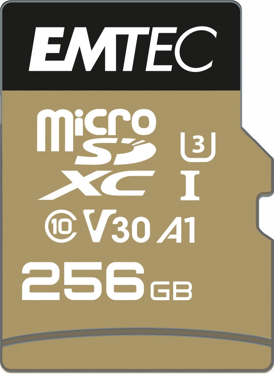 EMTEC microSDXC UHS-I U3 V30 SpeedIN PRO 256 GB - Secure Digital (SD)