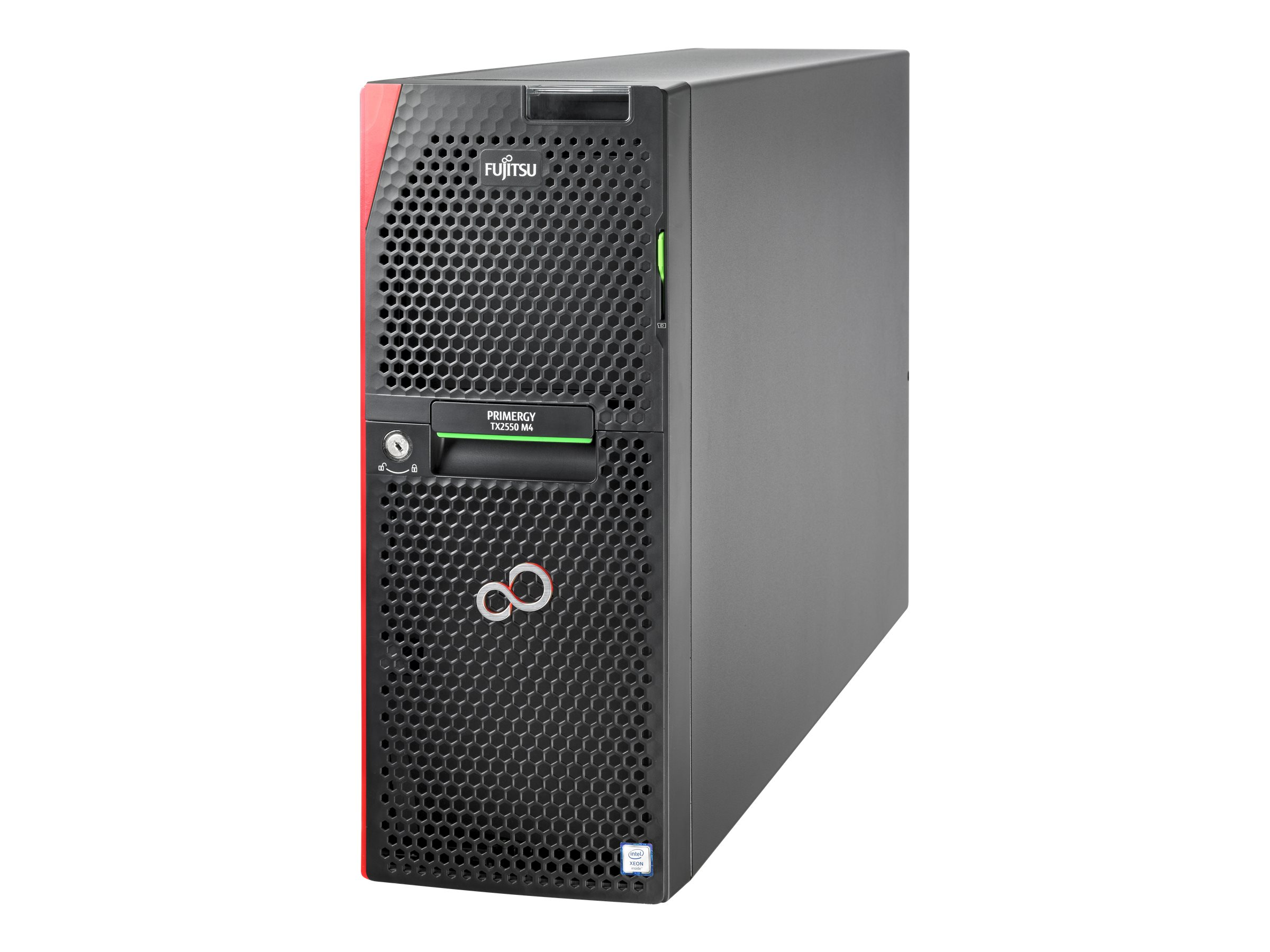 Fujitsu PRIMERGY TX2550 M4 - Server - Tower - 4U - zweiweg - 1 x Xeon Silver 4108 / 1.8 GHz - RAM 16 GB - SATA - Hot-Swa