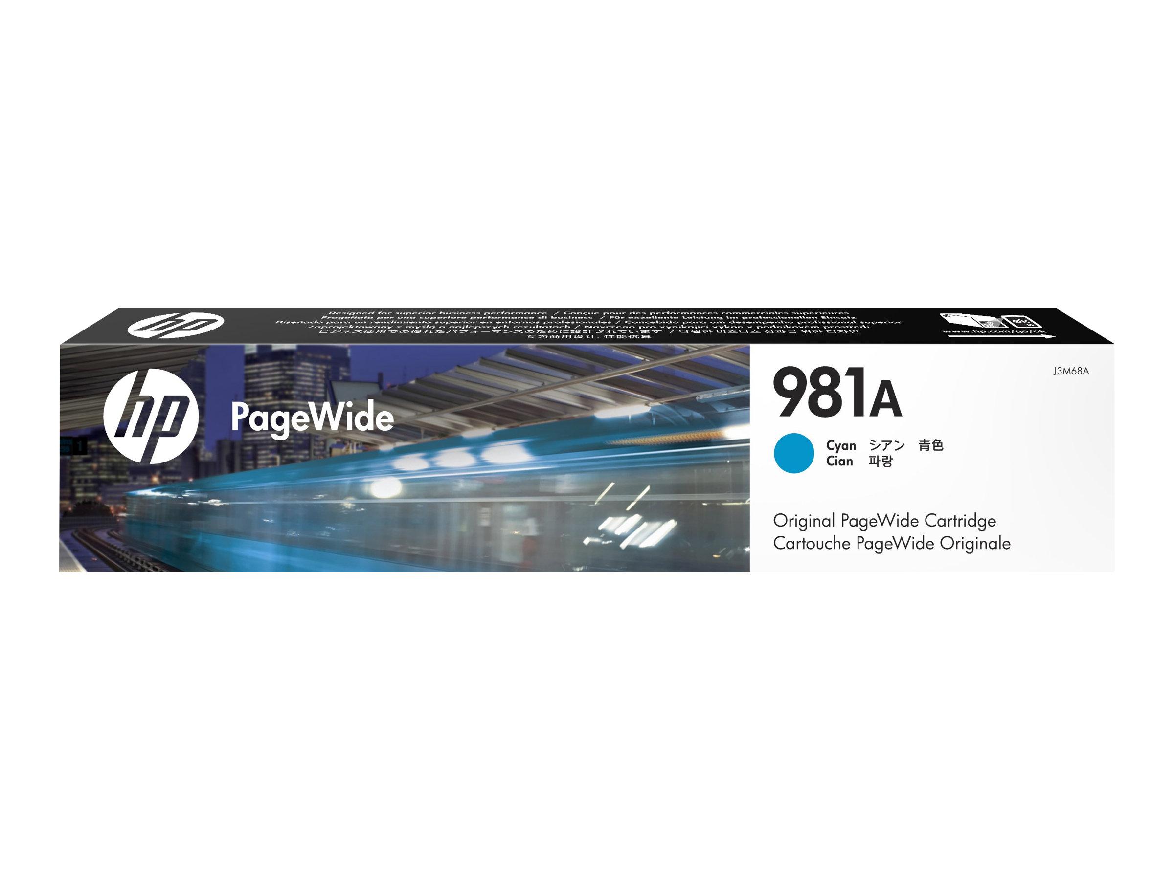 HP Tinte cyan Nr. 981A (J3M68A) ca. 6.000 Seiten