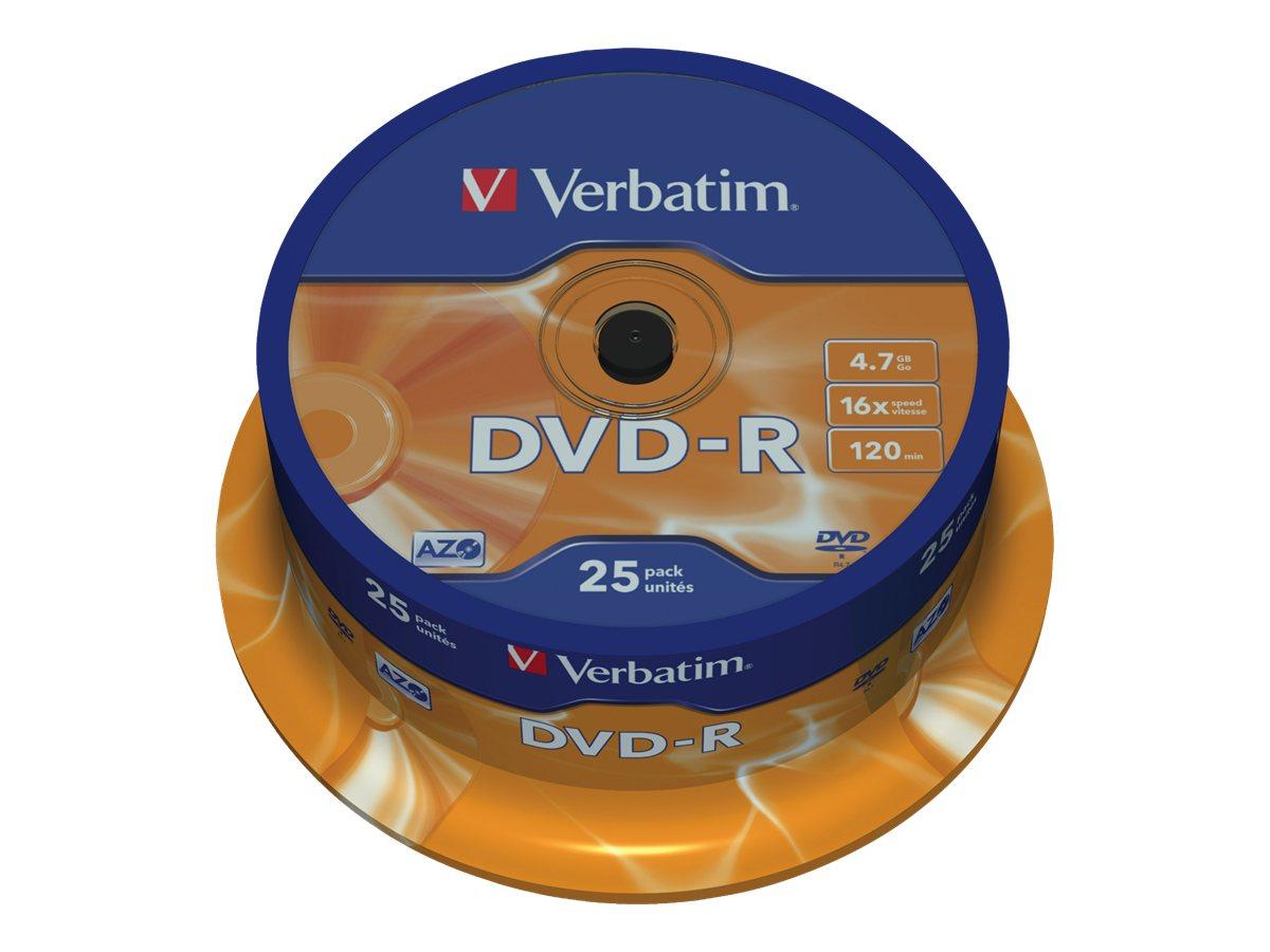 Verbatim 25 x DVD-R - 4.7 GB 16x - mattsilber