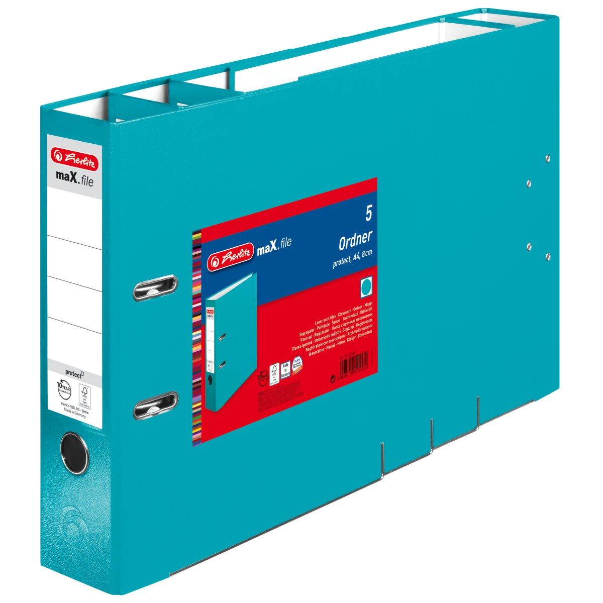 Vorschau: Herlitz 11416260 - 5 Blätter - Blau - Polypropylen (PP) - A4 - 80 mm
