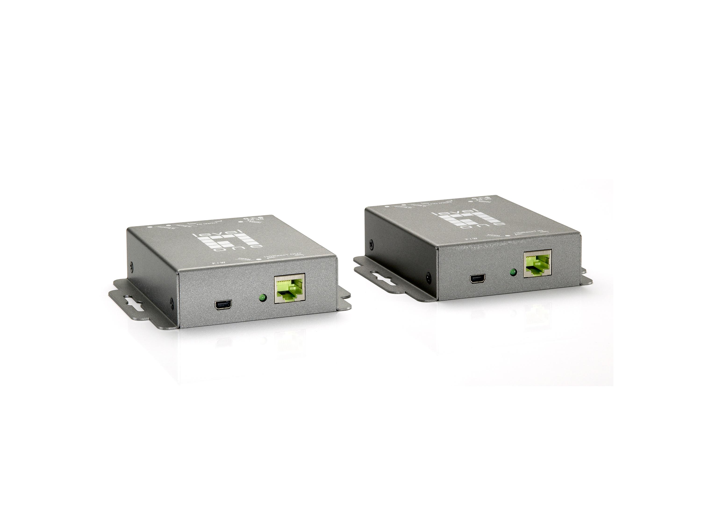 LevelOne HVE-9005 AV transmitter & receiver Grau