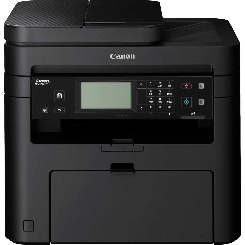 Canon i-SENSYS MF 249 dw Laser/LED-Druck Multifunktionsgerät - s/w - 27 ppm - USB, USB 2.0 RJ-45