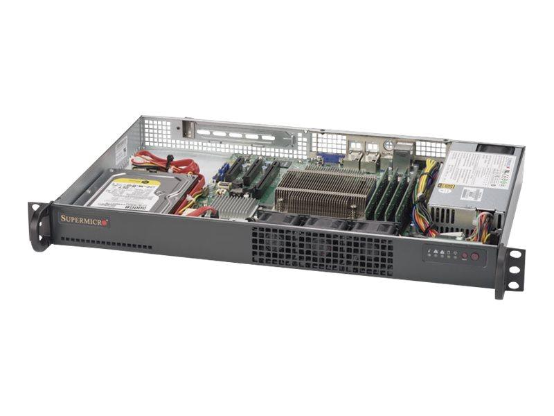 Supermicro SuperServer 5019S-L Server - Rack-Montage - 1U - 1-Weg - RAM 0 MB - kein HDD - AST2400 - GigE - Monitor: keiner