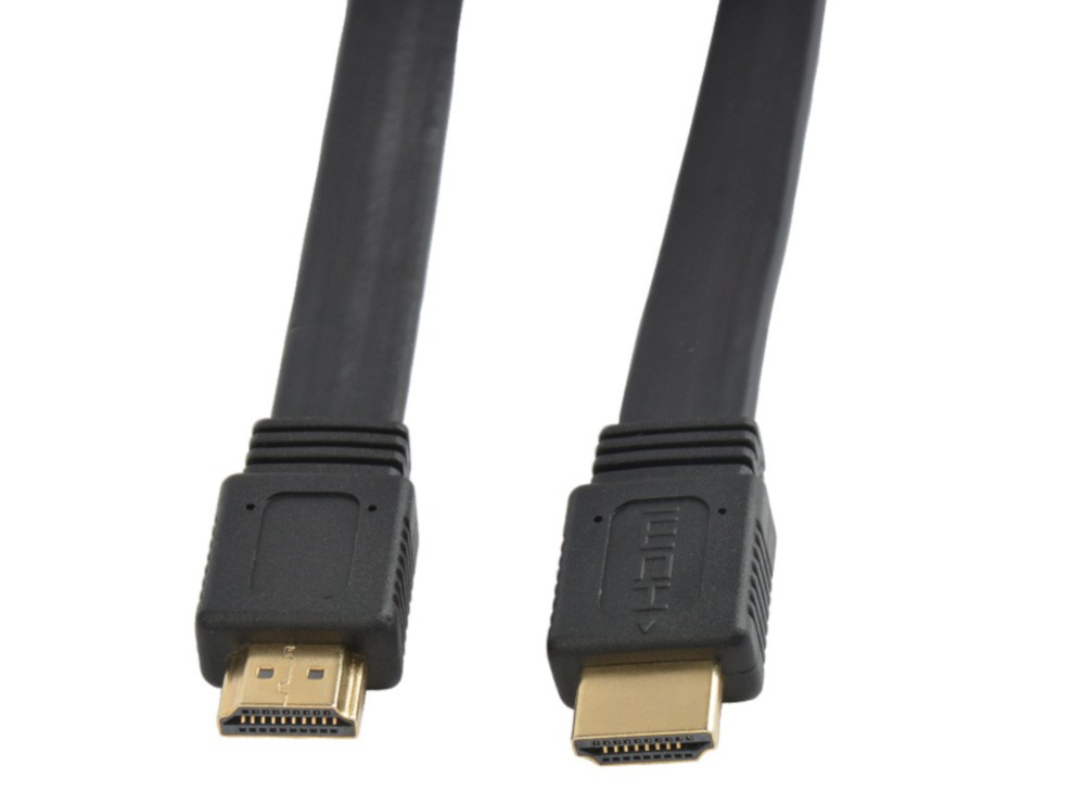 Techly HDMI High Speed mit Ethernet Flachkabel 4K 60Hz 1m