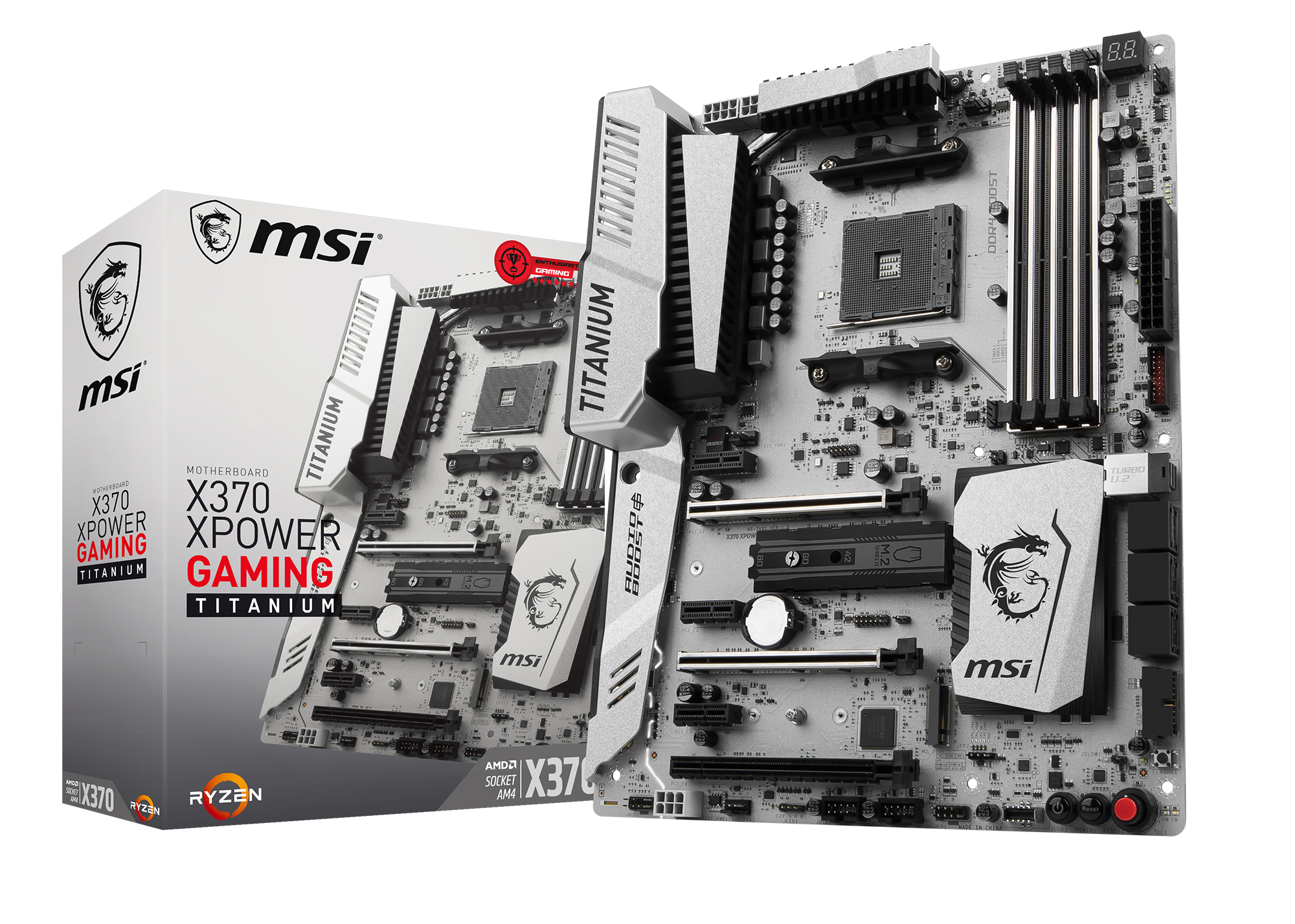 MSI X370 XPOWER GAMING TITANIUM - Mainboard - ATX