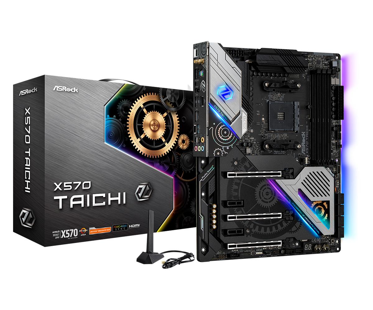 ASRock X570 Taichi - AMD - Socket AM4 - AMD Ryzen - DDR4-SDRAM - DIMM - 2133,2400,2667,2933,3200,3466,4133,4200,4266,4300,4400 MHz