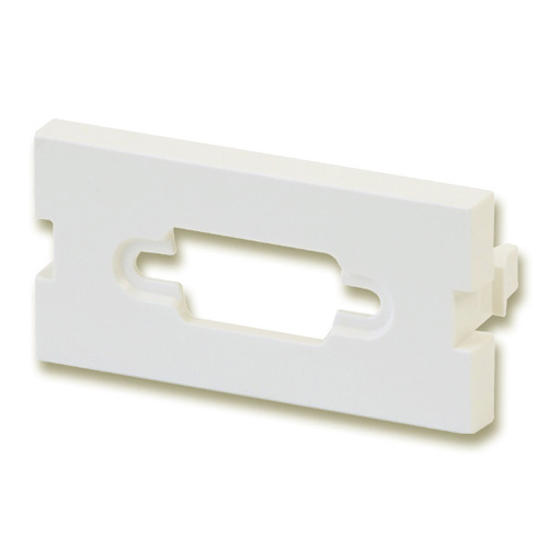 Lindy Snap-in Blank VGA Block - Modulares Faceplate-Snap-In - 1 Anschluss (Packung mit 4 )