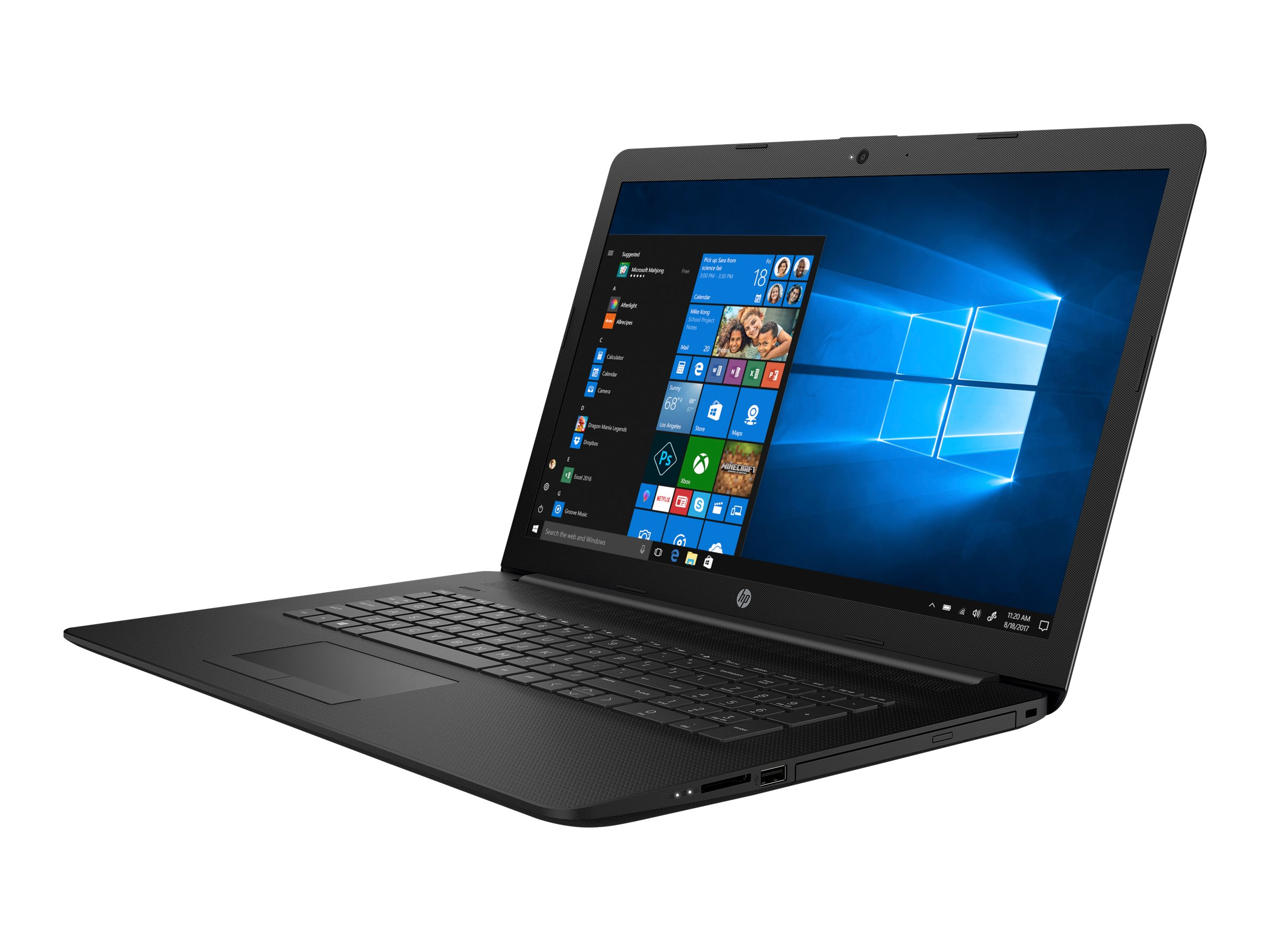 "HP 17-ca0450ng - A6 9225 / 2.6 GHz - Win 10 Home 64-Bit - 8 GB RAM - 256 GB SSD - DVD-Writer - 43.9 cm (17.3"")"