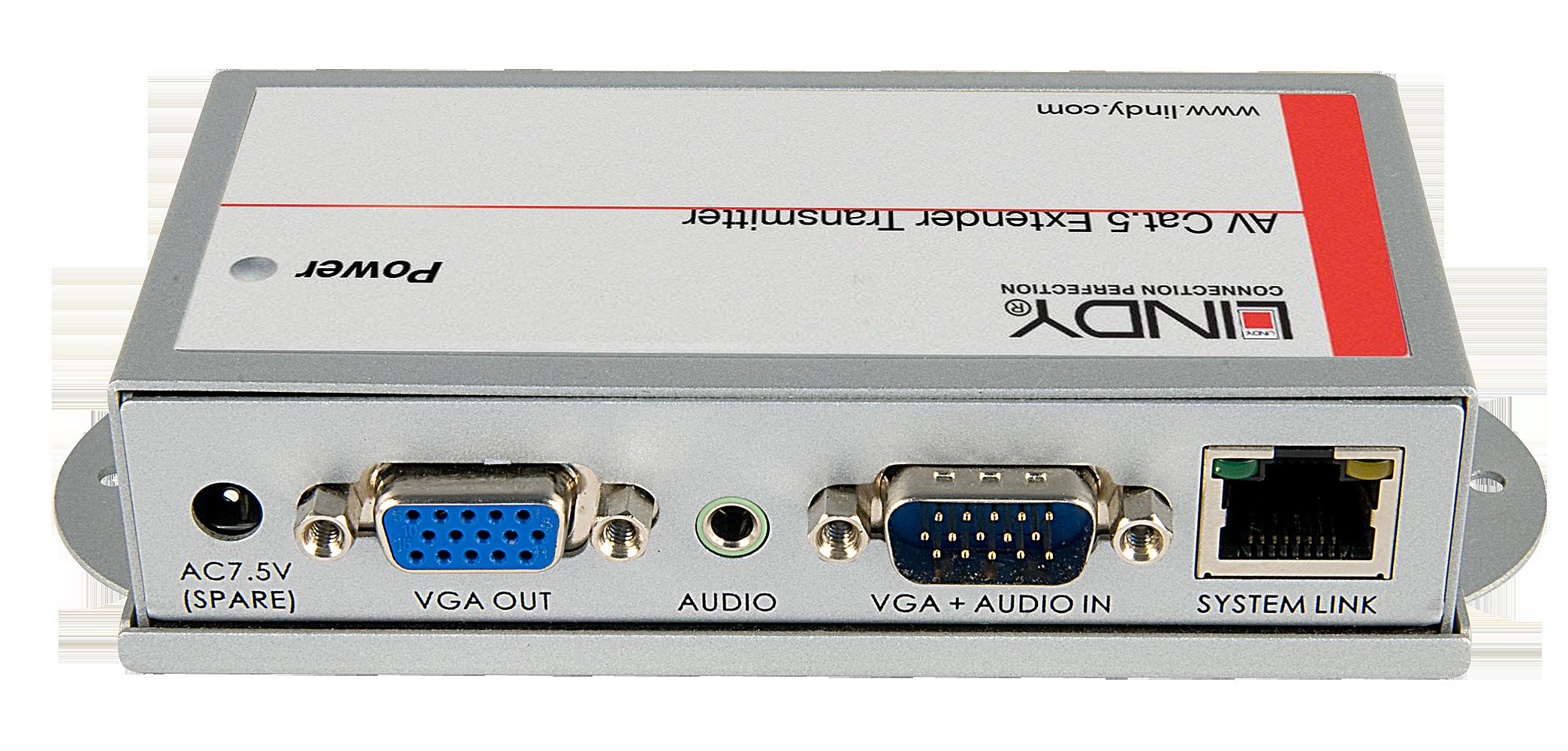 Lindy CAT5e/6 VGA & Audio Transmitter - Erweiterung für Video/Audio - bis zu 250 m