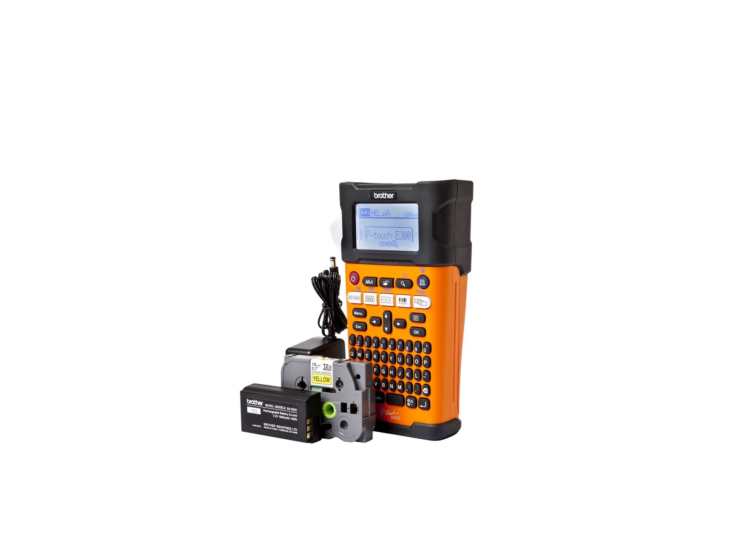 Brother P-Touch PT-E300VP - Beschriftungsgerät - monochrom - Thermopapier - Rolle (1,8 cm)