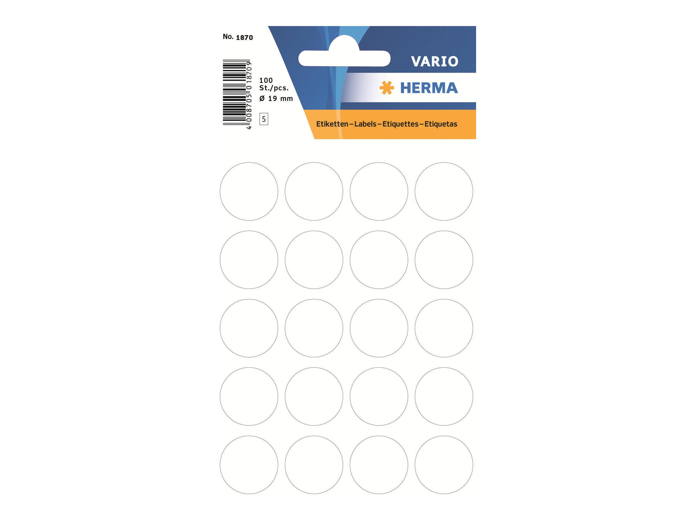 HERMA Papier - selbstklebend - weiß - 19 mm