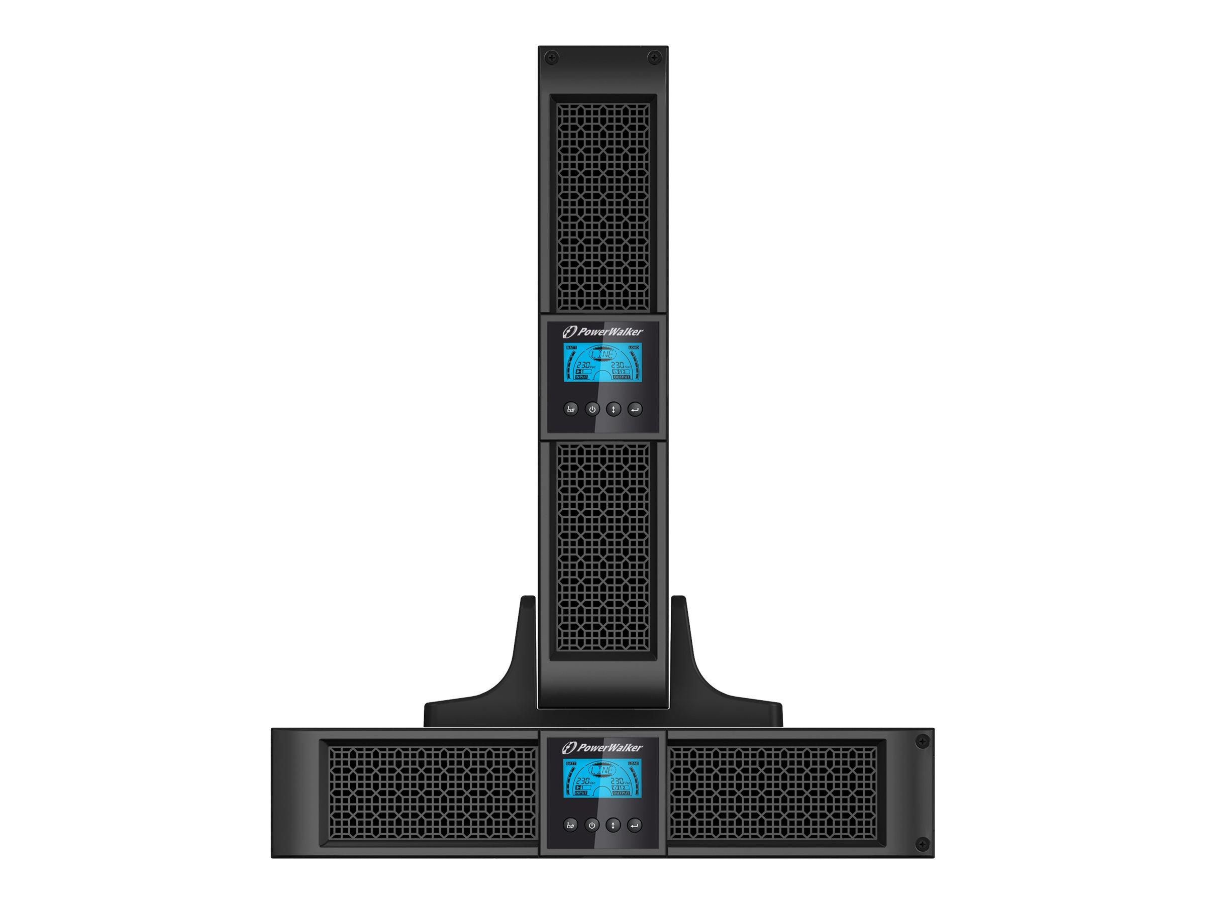 """Bluewalker PowerWalker VFI 3000RT LCD - USV - 2.7 kW - 3000 VA 9 Ah - RS-232, USB - Ausgangsanschlüsse: 9 - 2U - 48.3 cm (19"""")"""