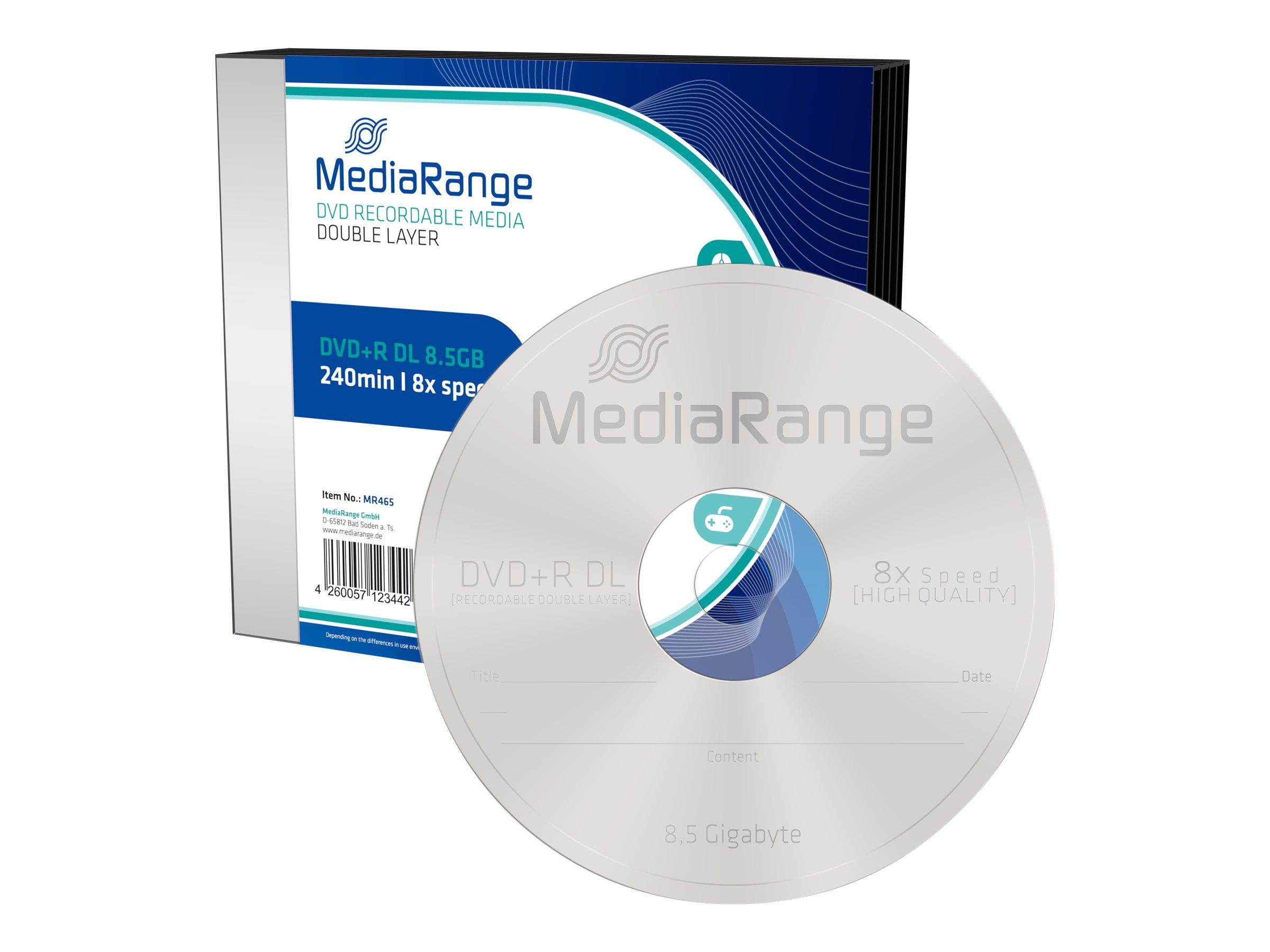 MEDIARANGE 5 x DVD+R DL - 8.5 GB (240 Min.) 8x
