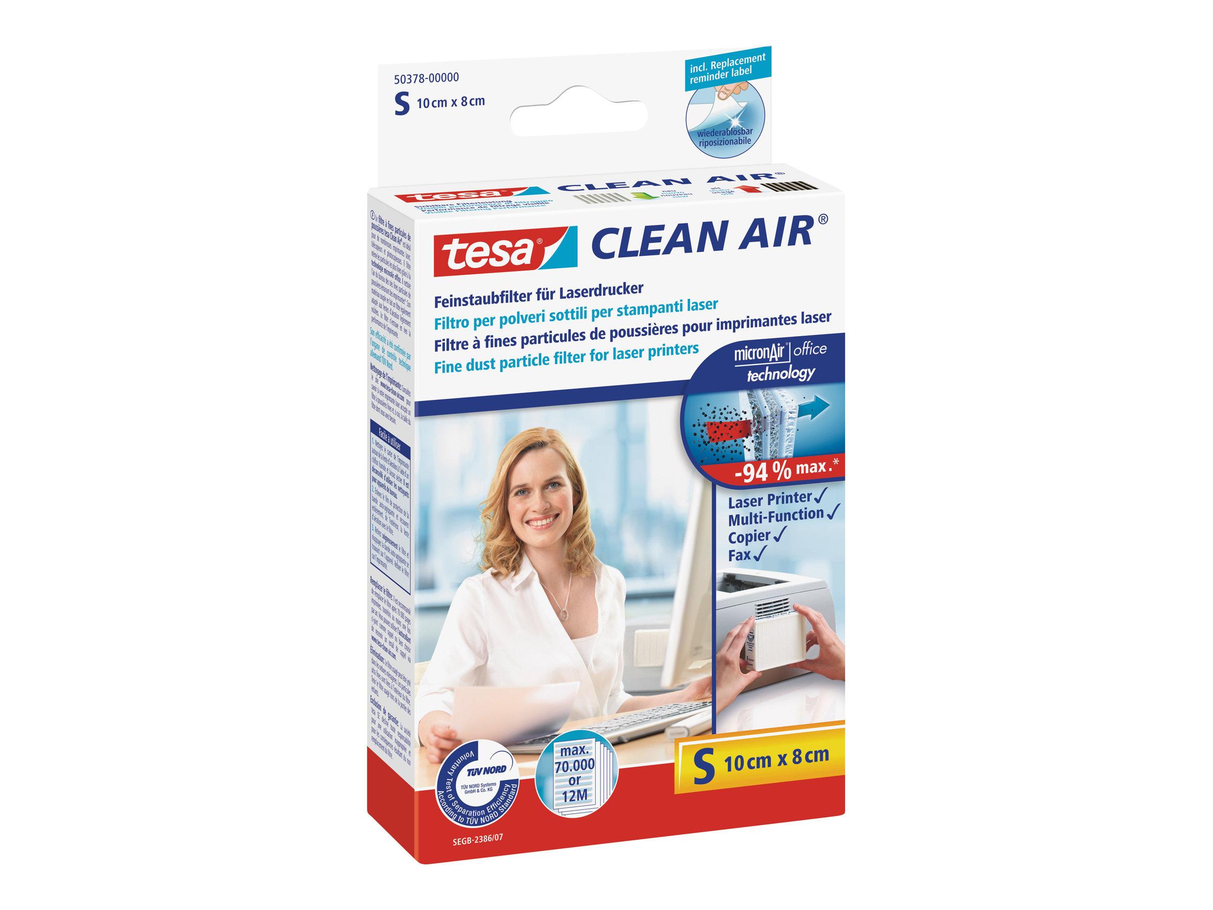 Tesa Clean Air S - Feinstaubfilter für Drucker