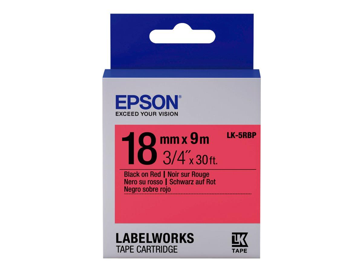 Epson LabelWorks LK-5RBP - Schwarz auf rot