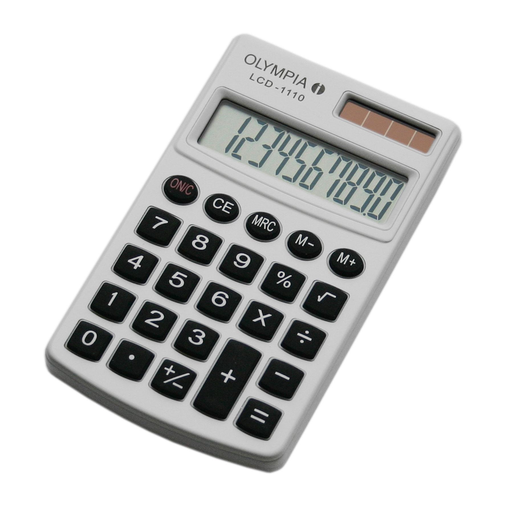 Olympia LCD 1110 - Einfacher Taschenrechner - 10-stelliges Display -weiß