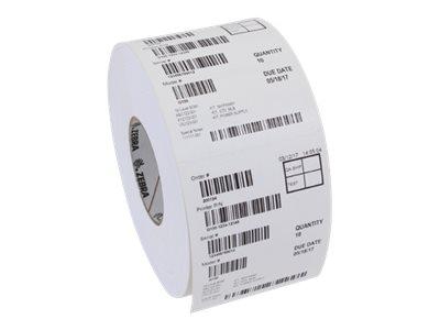 Zebra 8000D Linerless - Papier - permanenter Acrylklebstoff - silikonbeschichtet - weiß - Rolle (10 cm x 133,5 m)