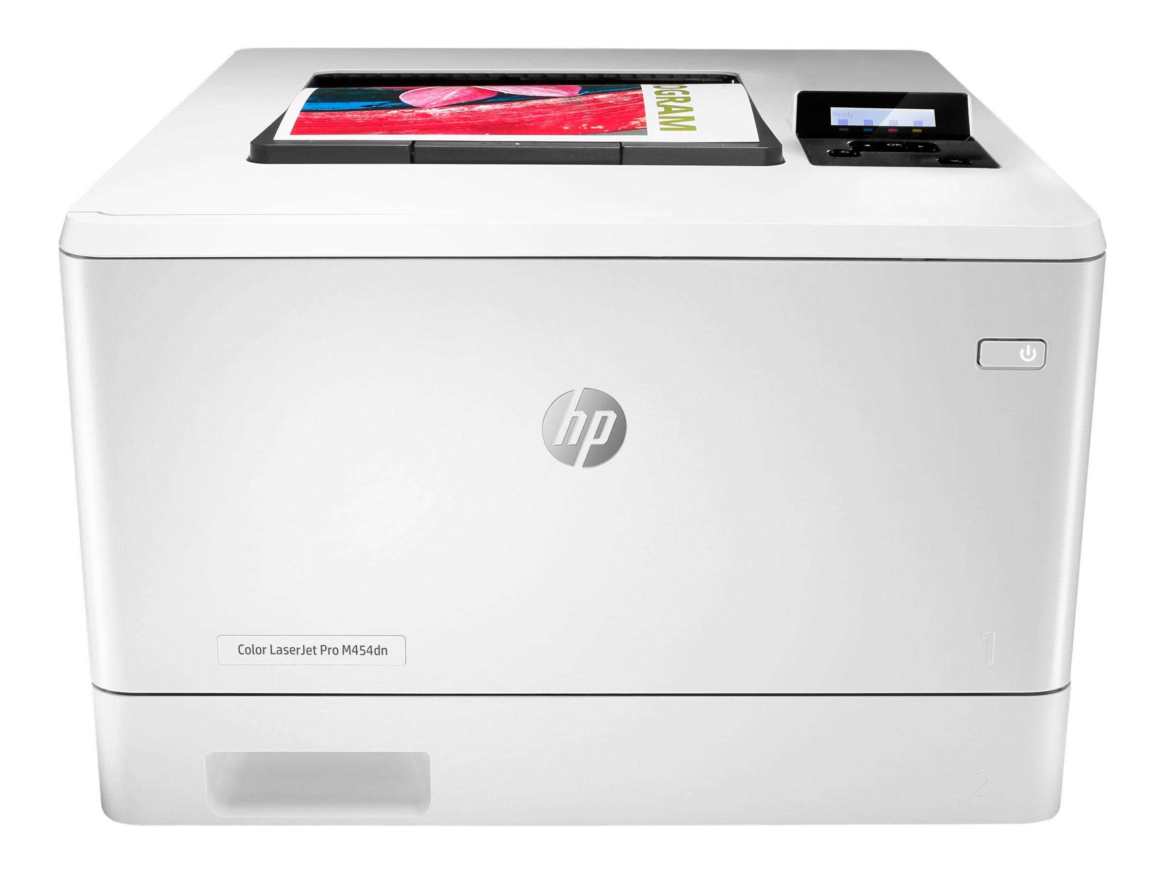 HP Color LaserJet Pro M454dn - Drucker - Farbe - Duplex - Laser - A4/Legal - 38.400 x 600 dpi - bis zu 27 Seiten/Min. (einfarbig)/