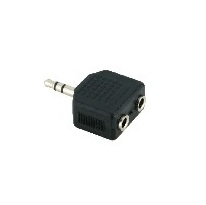 V7 Audio-Adapter - Mini-Phone Stereo 3.5 mm (M) - Mini-Phone Stereo 3.5 mm (W) - Schwarz