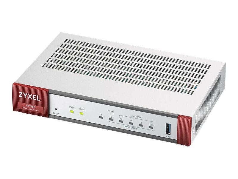 ZyXEL ZyWALL VPN50 - Sicherheitsgerät - mit 1 Jahr Content-Filter + 1 Jahr Geo Enforcer