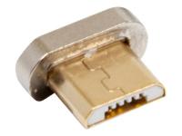 168183 Magnetic Magnetic Micro-USB Messing - Silber Kabelschnittstellen-/adapter