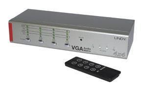 Lindy VGA & Audio Selector Matrix Switch 4x4 - AV Umschalter