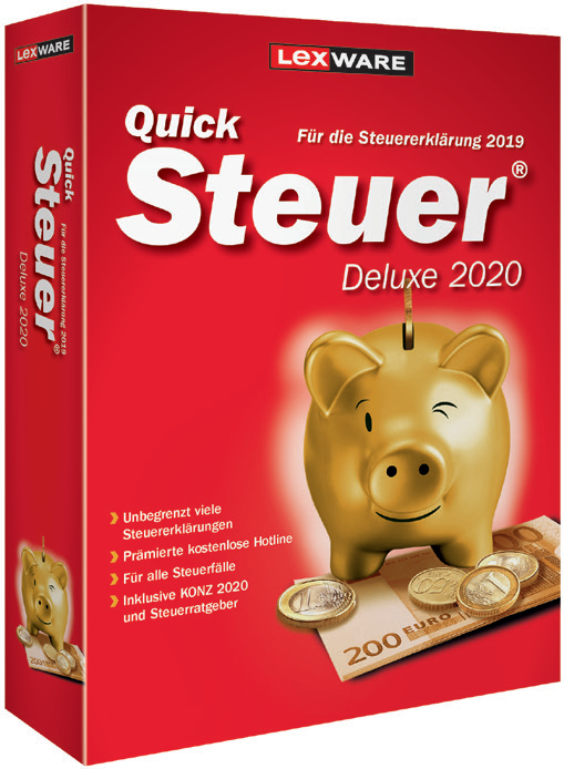 Lexware QuickSteuer Deluxe 2020 - Box-Pack - DVD (Frustration-Free Packaging)