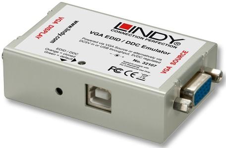 Lindy EDID/DDC Emulator for VGA Displays - EDID-Leser/Schreiber - VGA