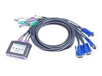 ATEN CS64A - KVM-/Audio-Switch - 4 x KVM/Audio