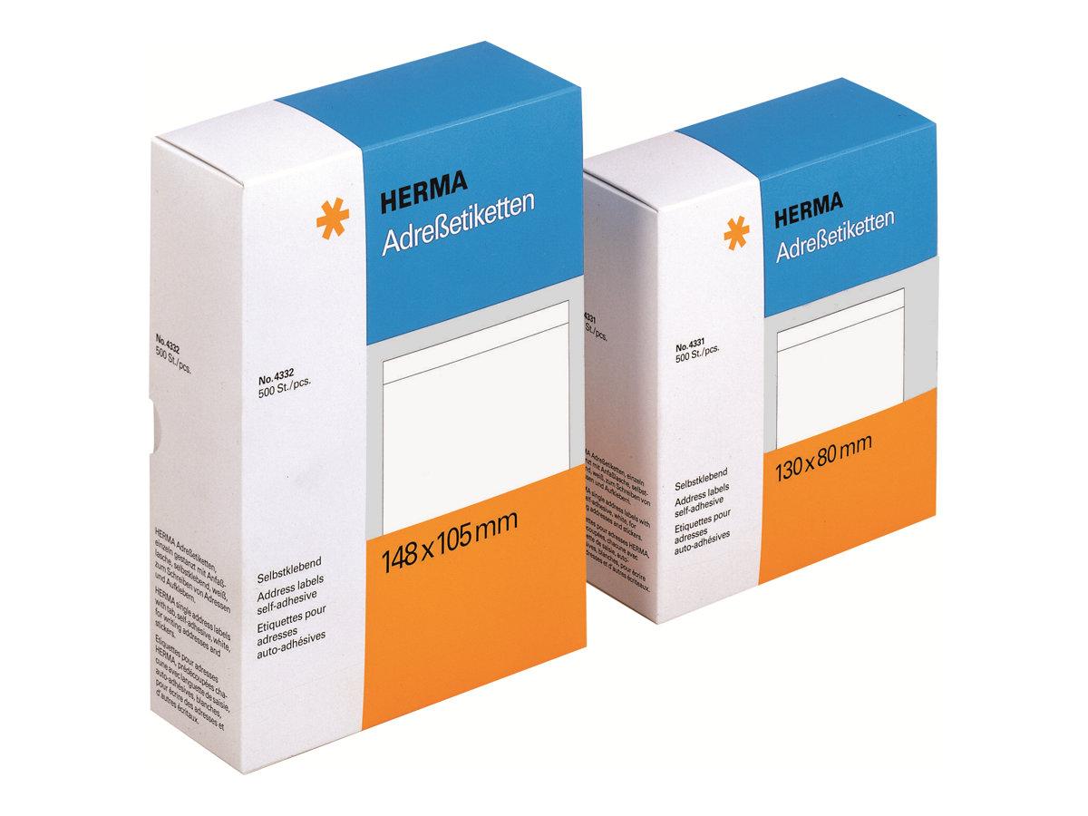 HERMA Matt - selbstklebend - weiß - 148 x 105 mm 500 Etikett(en) (500 Bogen x 1)