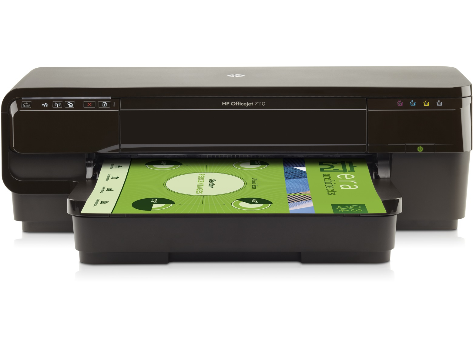 HP Color LaserJet Officejet 7110 Wide Format ePrinter - Großformatdrucker Farbig Tintenstrahldruck - 1.200 dpi - 8 ppm