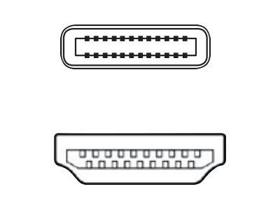Fujitsu Videoadapter - USB-C männlich bis HDMI männlich