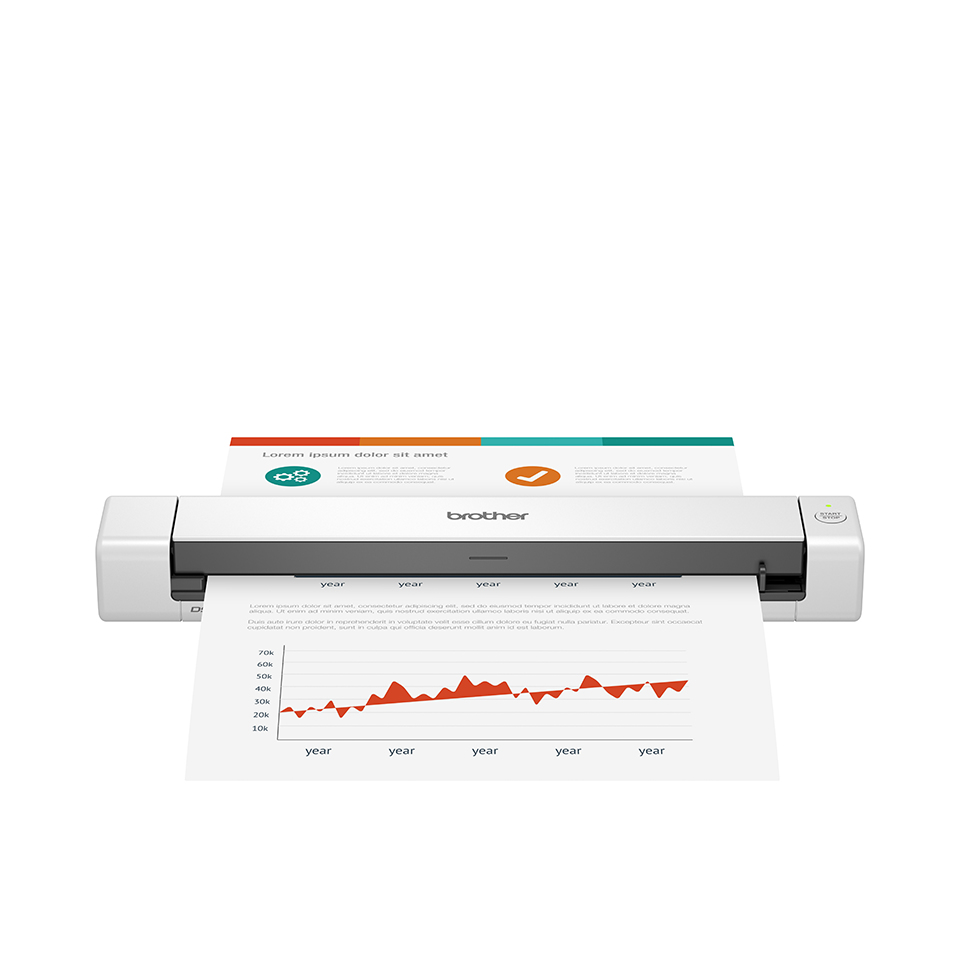 Brother-DSmobile-DS-640-Sheetfed-scanner-215-9-x-1828-8-mm-600-dpi-x-DS640TJ1 miniatura 2