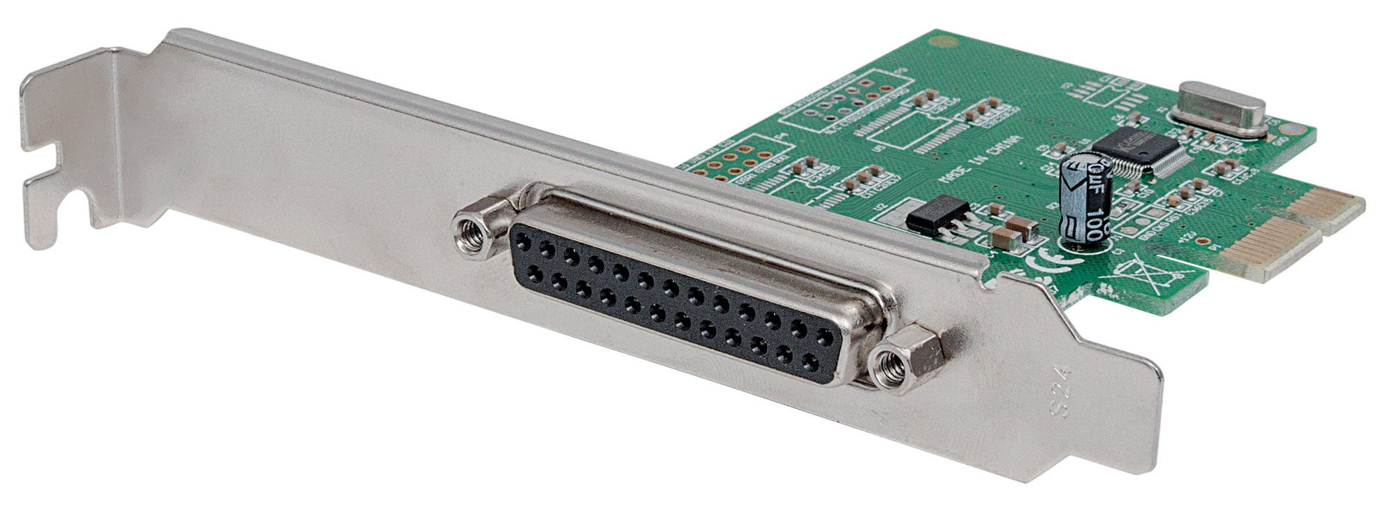 Manhattan 152099 - PCIe - Parallel - IEEE 1284 - CE - FCC - RoHS - WEEE - 2,5 Gbit/s - 68 mm - 120 mm