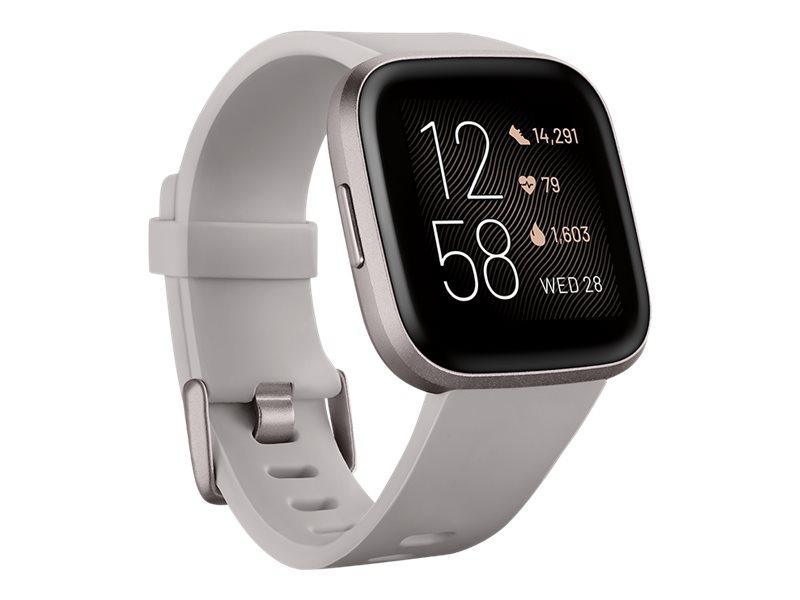 Fitbit Versa 2 - Nebelgrau - intelligente Uhr mit Band