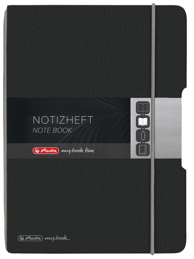 Vorschau: Herlitz my.book - Einfarbig - Schwarz - A5 - 40 Blätter - 80 g/m² - Kariertes Papier