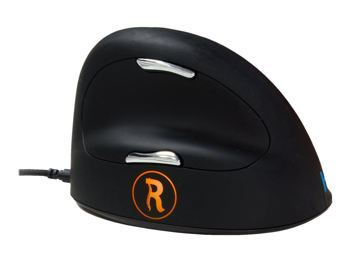 R-Go HE Mouse Break Ergonomische Maus, Anti-RSI-Software, Mittel (165-195mm)