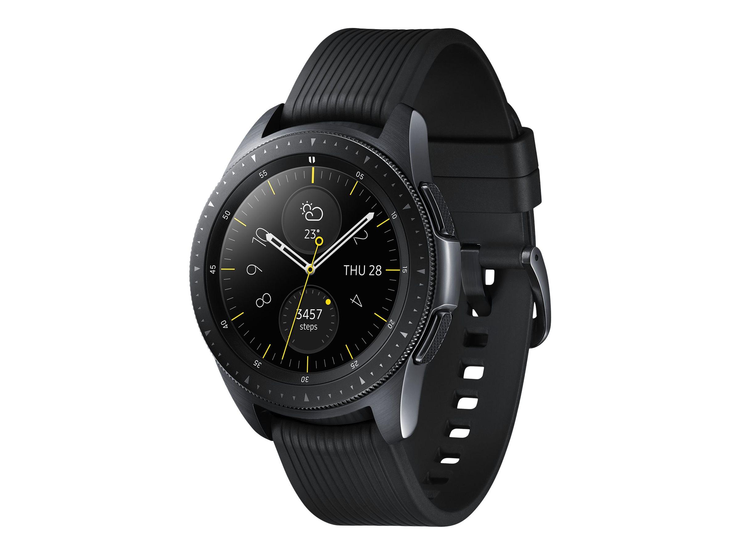 """Samsung Galaxy Watch - 42 mm - Midnight Black - intelligente Uhr mit Band - Silikon - Anzeige 3.05 cm (1.2"""")"""
