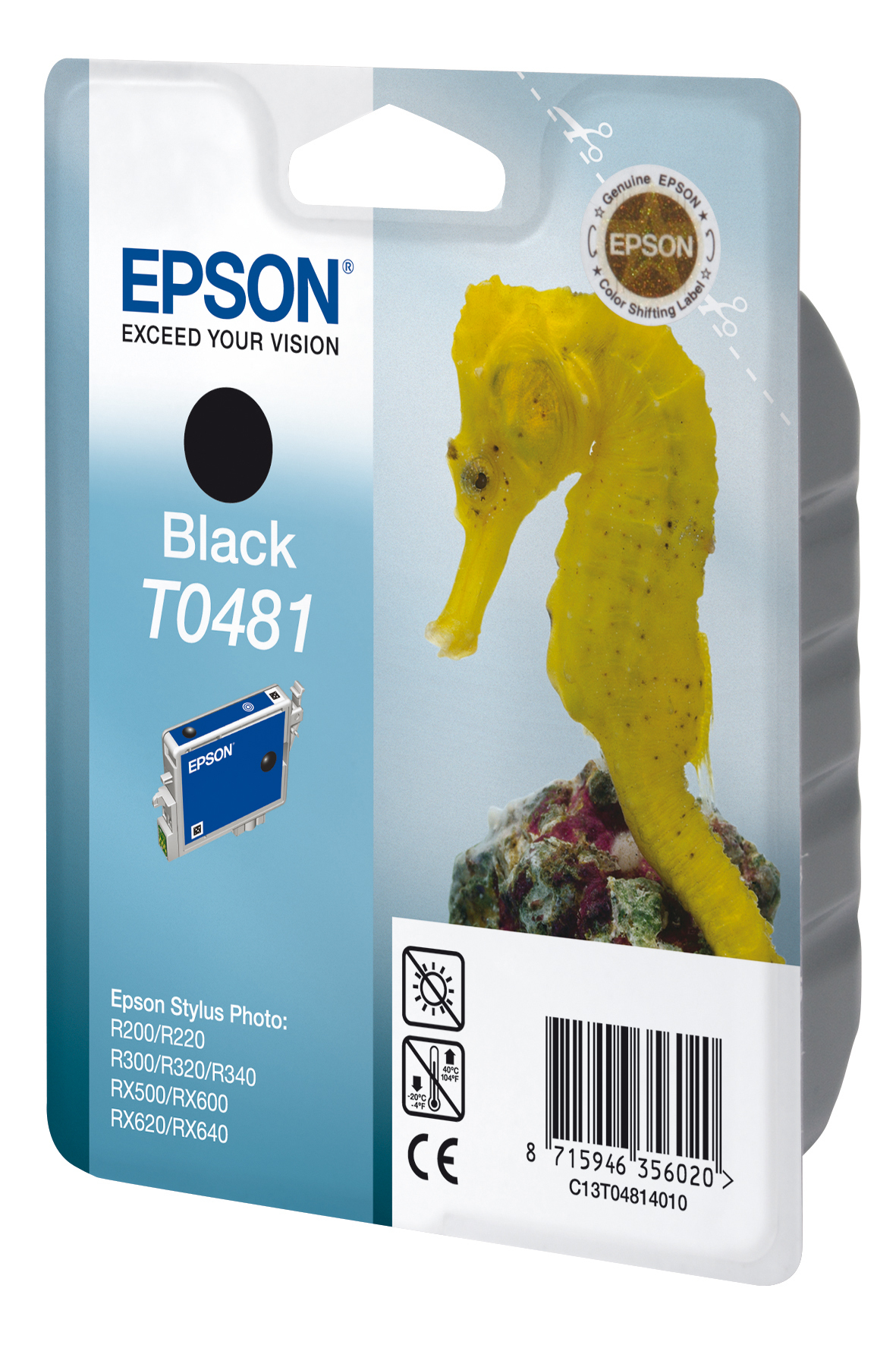 Epson-C13T04814020-Seahorse-Singlepack-Black-T0481-Original-Pigment-based thumbnail 2